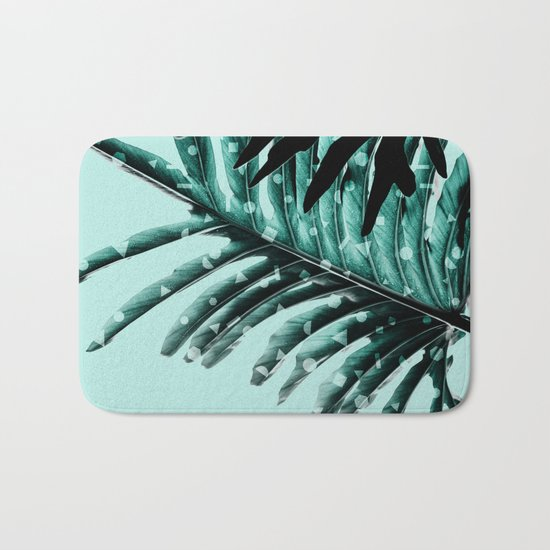 Leaves 2 Geometry Bath Mat