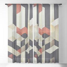 915 // Fallen Heights // Geometric Pattern Sheer Curtain