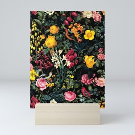 Floral and Birds Pattern Mini Art Print