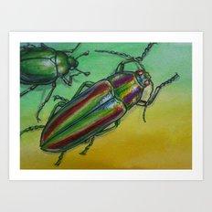 Shinny Beetle Art Print