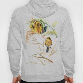 Yellow Bird and Sunflowers, Yellowhammer Hoody