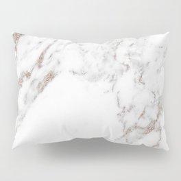 Rose gold shimmer vein marble Pillow Sham