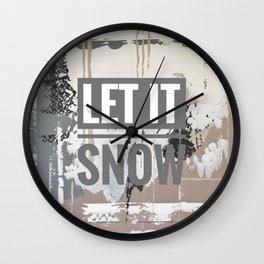 Snowfall - let it snow Wall Clock
