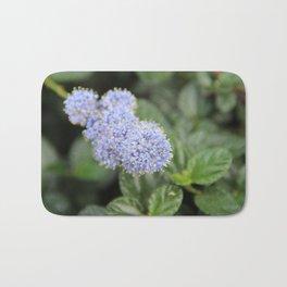 Blue Pon Pon Flower Bath Mat