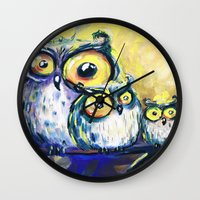 family Wall Clocks featuring family by Katja Main