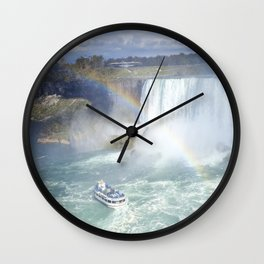 Rainbows and Mist Wall Clock
