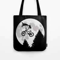 et Tote Bags featuring ET tailwhip by le.duc