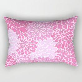 Pink Dahlias / Pink Floral / Pink Flowers Rectangular Pillow