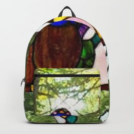 Birds of a Stained Glass Feather Backpack