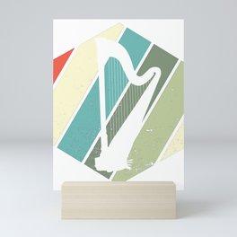 Harps Irel Irish Music Instrument Musicians Mini Art Print