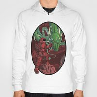 dragonball Hoodies featuring The Dragon on Mars by David Comito