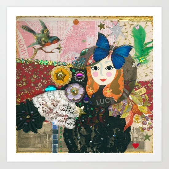 Paper Dollies - Jane Art Print