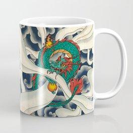 Minhwa: Asian Dragon with Magic Pearl F Type Coffee Mug