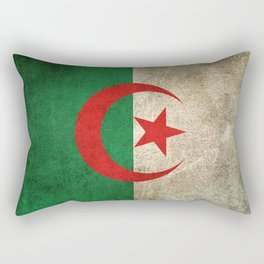Old and Worn Distressed Vintage Flag of Algeria Rectangular Pillow