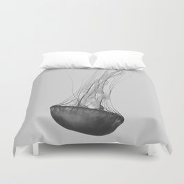 Black & White Jellyfish Duvet Cover