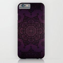 Mandala Violet Black Spiritual Zen Bohemian Hippie Yoga Mantra Meditation iPhone Case