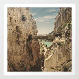 """The most dangerous trail in the world"". El Caminito del Rey Art Print"