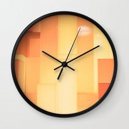 Shades of Orange #3 - Photography Art Wall Clock