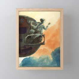 Big wheel Framed Mini Art Print