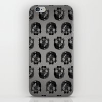 low poly iPhone & iPod Skins featuring Black skull low poly by Daniel Delgado