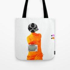 Statue Life TV · Oranje Tote Bag