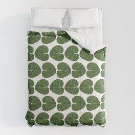 Cyclamen leaf pattern Comforters