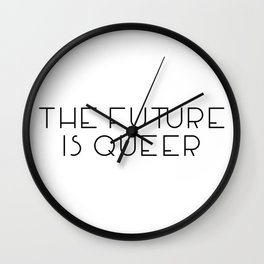 The Future Is Queer Wall Clock