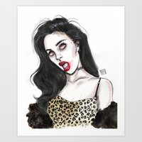 charli xcx Art Prints featuring Charli by Lucas David