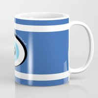 evil eye Mugs featuring Evil Eye by Monica Barela-Di Bisceglie
