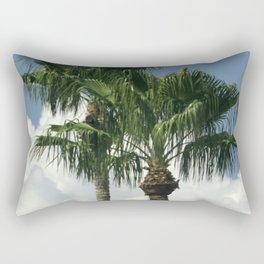 Palm Trees Embracing In the Blue Sky Rectangular Pillow