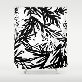 naturally, black and white/ part I Shower Curtain