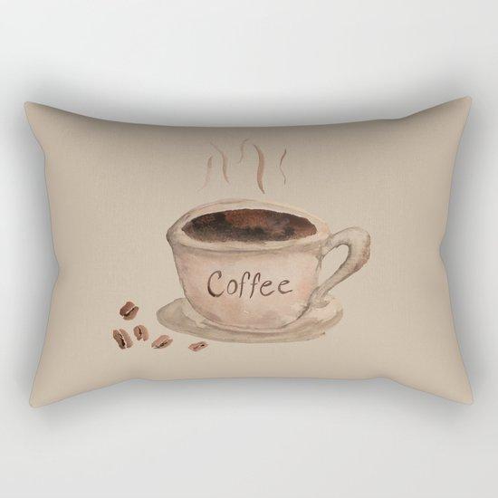Coffee Please Rectangular Pillow