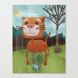 Robocat Canvas Print