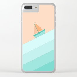 Boat on the Water #1 Clear iPhone Case