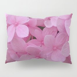 Pink Hydrangea - Flower Photography Pillow Sham