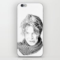 david fleck iPhone & iPod Skins featuring David by Rabassa