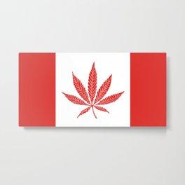 Canada Cannabis Flag Metal Print