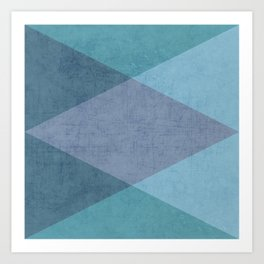 the blue triangles Art Print