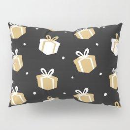 Black Gift Package Pattern Pillow Sham