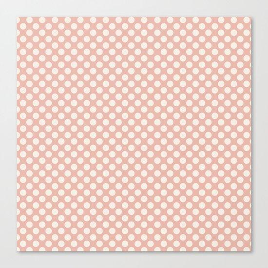 Polka dot dance on pink I -Polkadots pattern Canvas Print