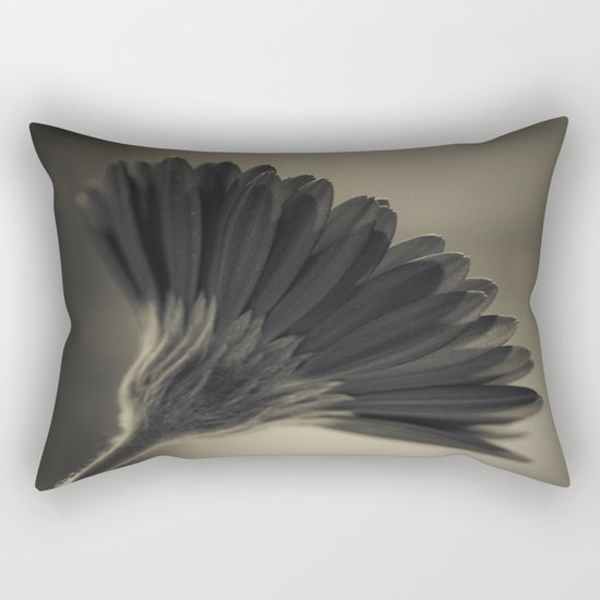 Gerbera black and white Rectangular Pillow