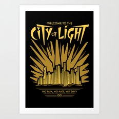 Welcome to the City of Light Art Print