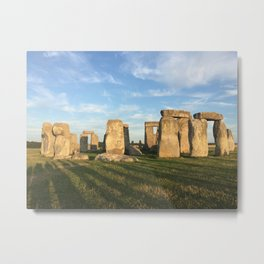 Sunset at Stonehenge Metal Print