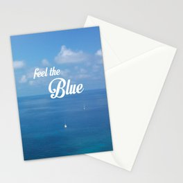 Feel the blue Stationery Cards