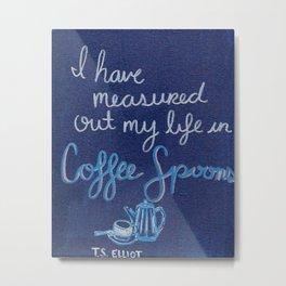 Coffee Spoons Metal Print