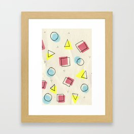 pastel shapes Framed Art Print