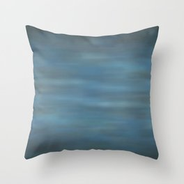 Abstract Soft Watercolor Blend Graphic Design 12 Black, Dark Blue and Light Blue Throw Pillow