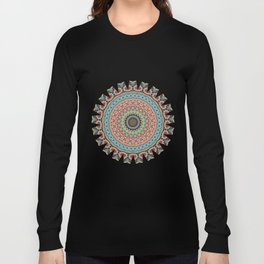 Boho Patchwork-Vintage colors Long Sleeve T-shirt