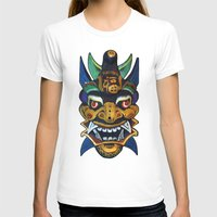chinese T-shirts featuring Chinese Mask by Ron Trickett