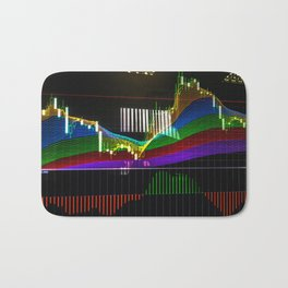 "Сandlestick chart with ""Rainbow"" indicator Bath Mat"